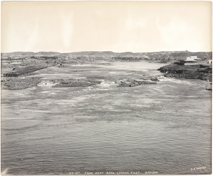 'From west bank looking east', River Nile, Aswan, Egypt, November 1900.