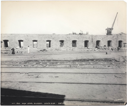 'High level sluices, south side', Aswan Dam, Egypt, November 1900.