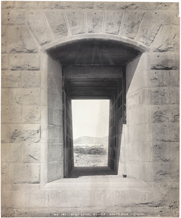 'High level sluice, south side', Aswan Dam, Egypt, December 1900.