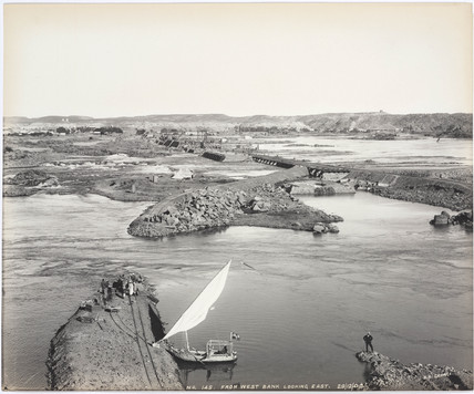 'From west bank looking east', River Nile, Aswan, Egypt, December 1900.