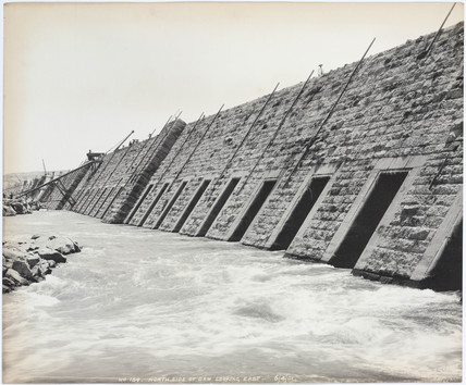 'North side of dam looking east', Aswan, Egypt, April 1901.