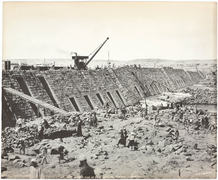 'North side of dam looking west', Aswan, Egypt, April 1901.