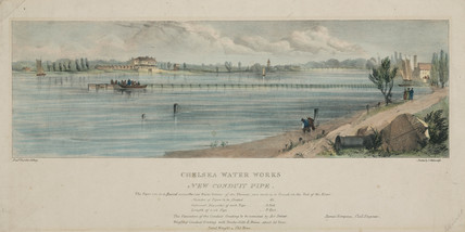 'Chelsea Water Works - new conduit pipe', London, mid 19th century.