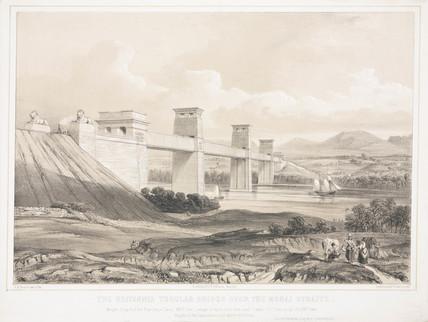 The Britannia Tubular Bridge over the Menai Straits', Wales, 1847-1849.