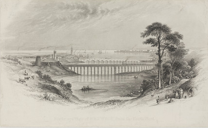 Royal Border Bridge, Berwick upon Tweed, Northumberland, 1850.
