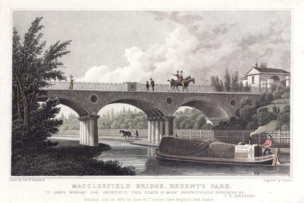 'Macclesfield Bridge, Regent's Park', London, 1827.