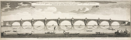 Design for Blackfriars Bridge, 1760.