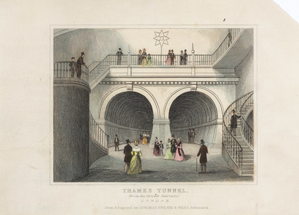 'Thames Tunnel', London, c 1845.