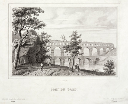 'Pont du Gard', France, 19th century.