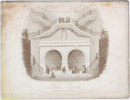 'Thames Tunnel, Wapping Entrance', London, c 1843.