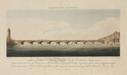 'Perspective Elevation of the Intended Strand Bridge', London, 1808.