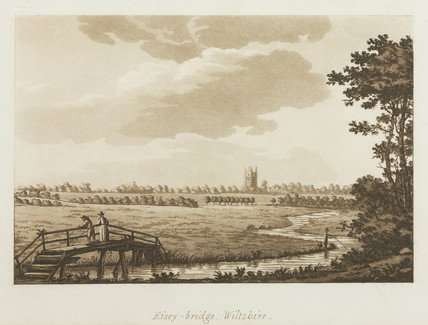 'Eisey-bridge, Wiltshire', 1792.
