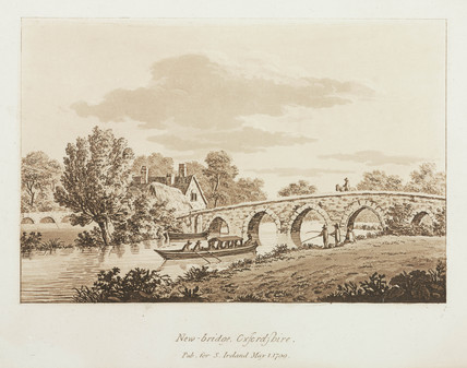 'New-bridge, Oxfordshire', 1799.