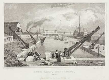 'Dock Yard, Sheernes, Kent', 1830.