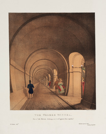'The Thames Tunnel', London, 1831.