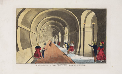 'A correct view of the Thames Tunnel', London, 1827-1843.