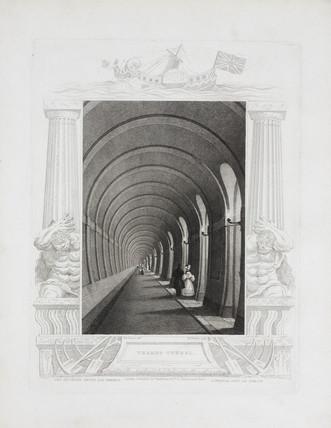 'Thames Tunnel', London, c 1839.