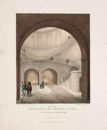'Proposed Entrance to the Thames Tunnel', London, 1836.