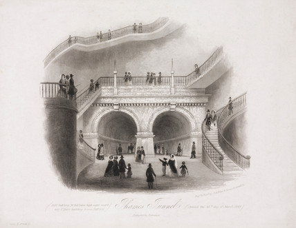 'Thames Tunnel, Rotherhithe Entrance', London, 1843.