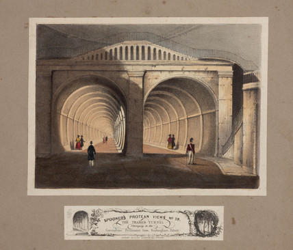 The Thames Tunnel, London, c 1845.