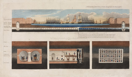 Brunel's Thames Tunnel, 1827.
