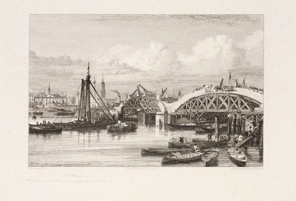 'The Works of the New London Bridge', London, 26 July 1827.