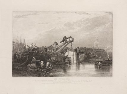 'The Diving Bell used at the Thames Tunnel after the Irruption of Water', 1827.