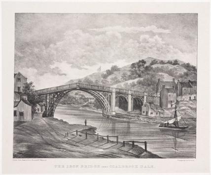 'The Iron Bridge near Coalbrook Dale', Shropshire, 1835.