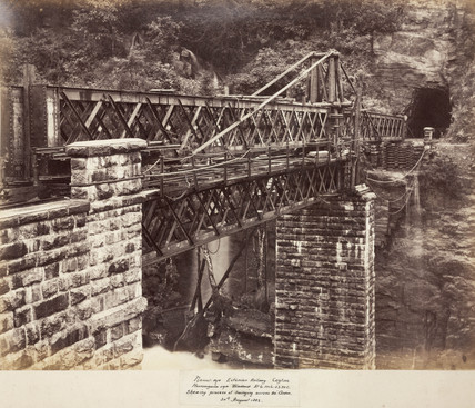 Viaduct on the Nanu Oya Extension Railway, Ceylon, August 1883.
