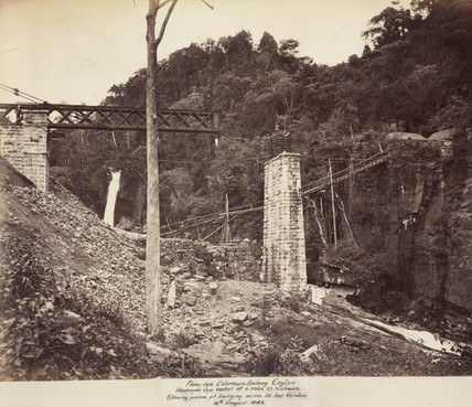 Viaduct on the Nanu Oya Extension Railway, Ceylon, August 1883.