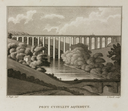 'Pont Cysyllty Aqueduct', Wales, 1814.