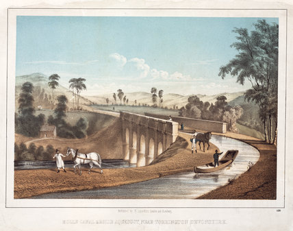 'Rolle Canal & Rolle Aqueduct, near Torrington Devonshire', c 1830.