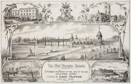 'The New Wilford Bridge', Nottingham, 1870.