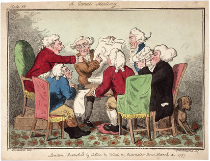 'A Canal Meeting', 1797.