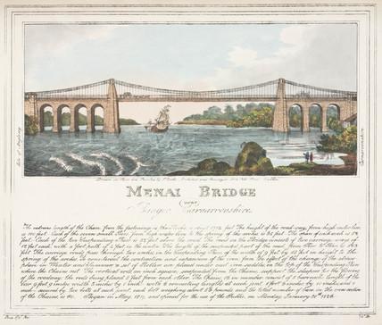 'Menai Bridge', Wales, 1826.
