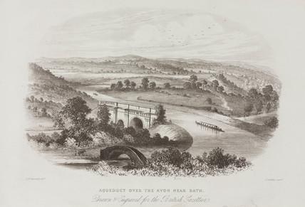 'Aqueduct over the Avon near Bath', c 1850.