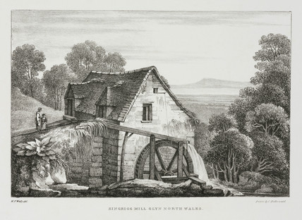 'Singrigg Mill Glyn North Wales', early 19th century.