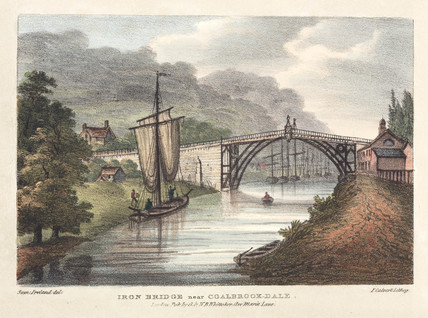 'Iron Bridge near Coalbrook-dale', Shropshire, 1824.