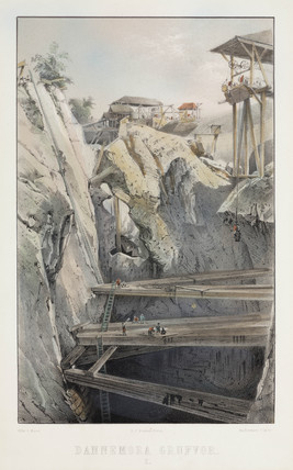 Dannemora iron mines, Sweden, c 1856.