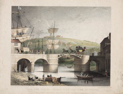 'The New Swivel Bridge over the Esk at Whitby', North Yorkshire, 1835.