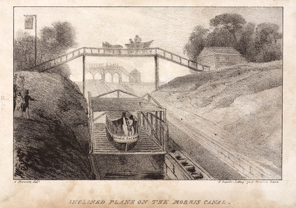 'Inclined Plane on the Morris Canal', United States, mid 19th century.