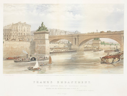 'Thames Embankment', London, 1863.