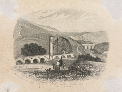 'Great Water Wheel, Laxey Mines (Isle of Man)', c 1857.