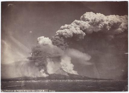 Eruption of Vesuvius, Italy, 4.30 pm, 26 April, 1872.