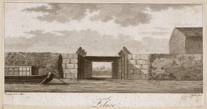 Bridge over a canal, China, late 18th century.