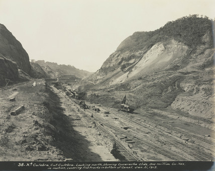 Construction of the Panama Canal, Panama, 1913.