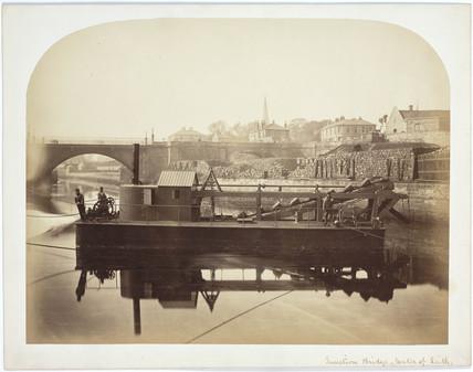 Dredger by Junction Bridge, Leith, Scotland, c 1863.