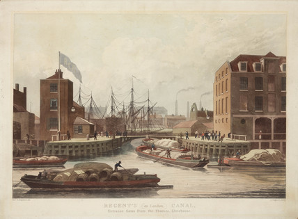 'Regent's (or London) Canal', London, c 1825.