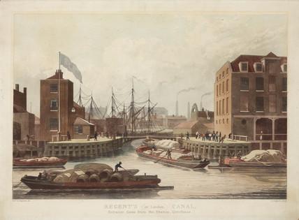'Regent's (or London) Canal', London, c 1825.