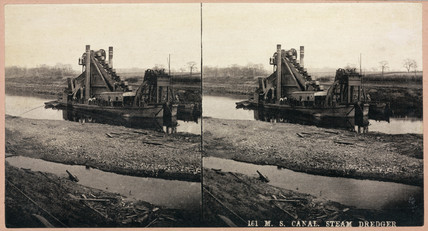 'M S Canal, steam dredger', 1893-1894.